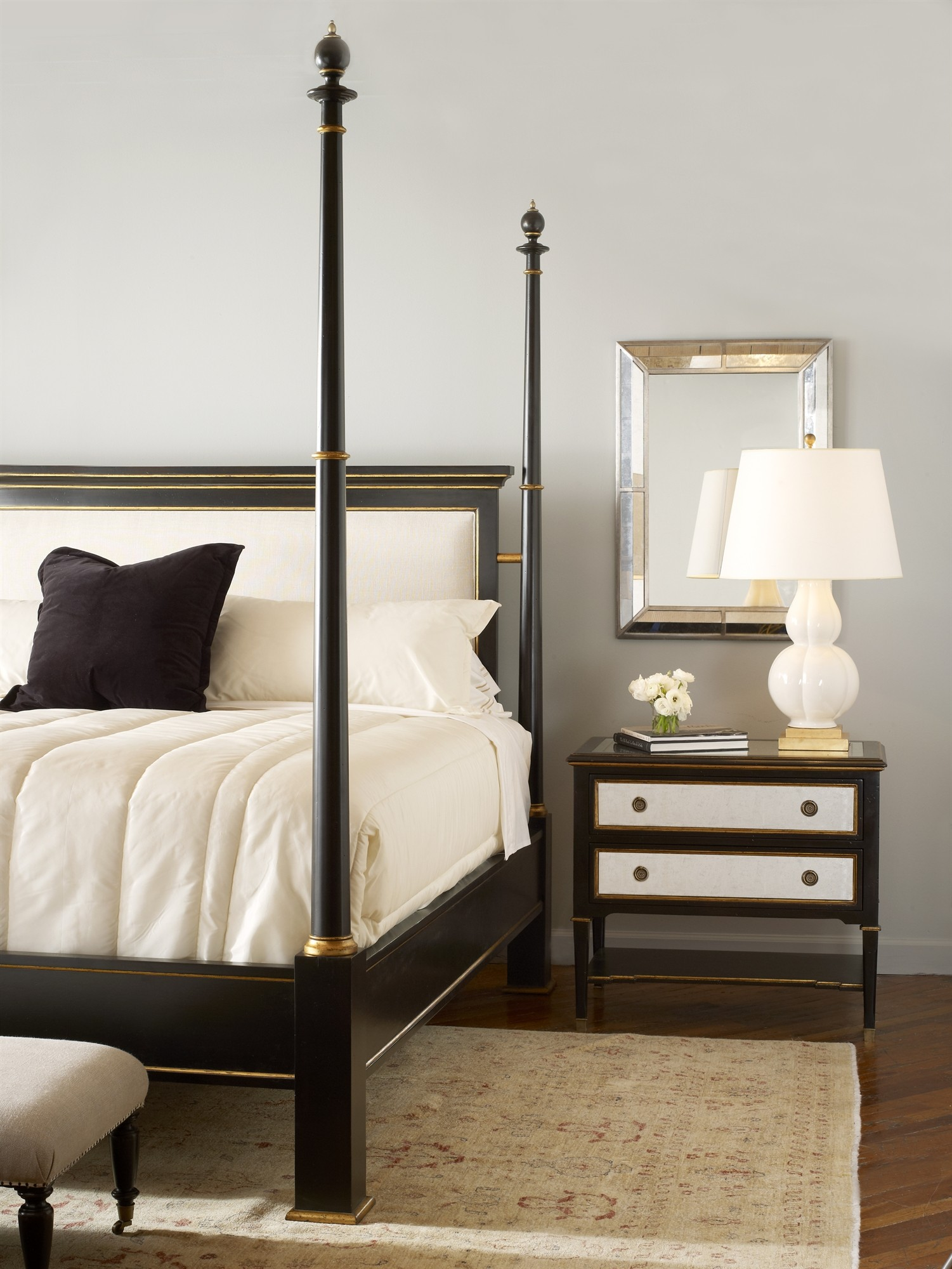 Barrington Poster Bed With Uph Headboard King Size 66