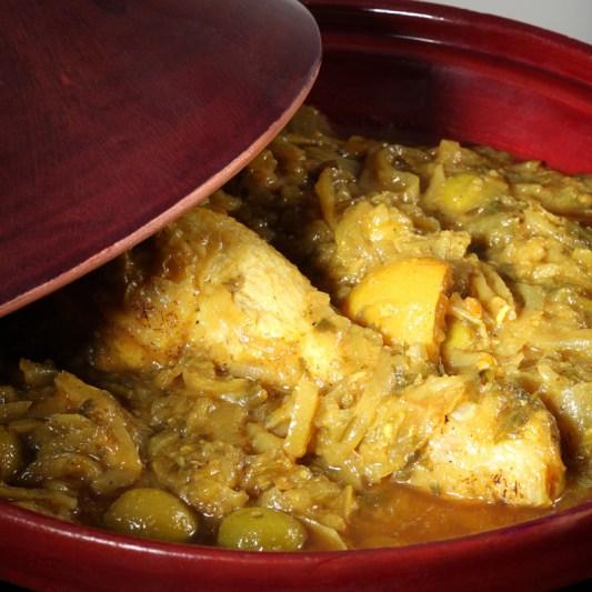Tajine de poulet aux olives charles traiteur
