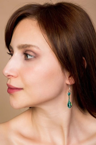 Blue Azur Glass Earring 1