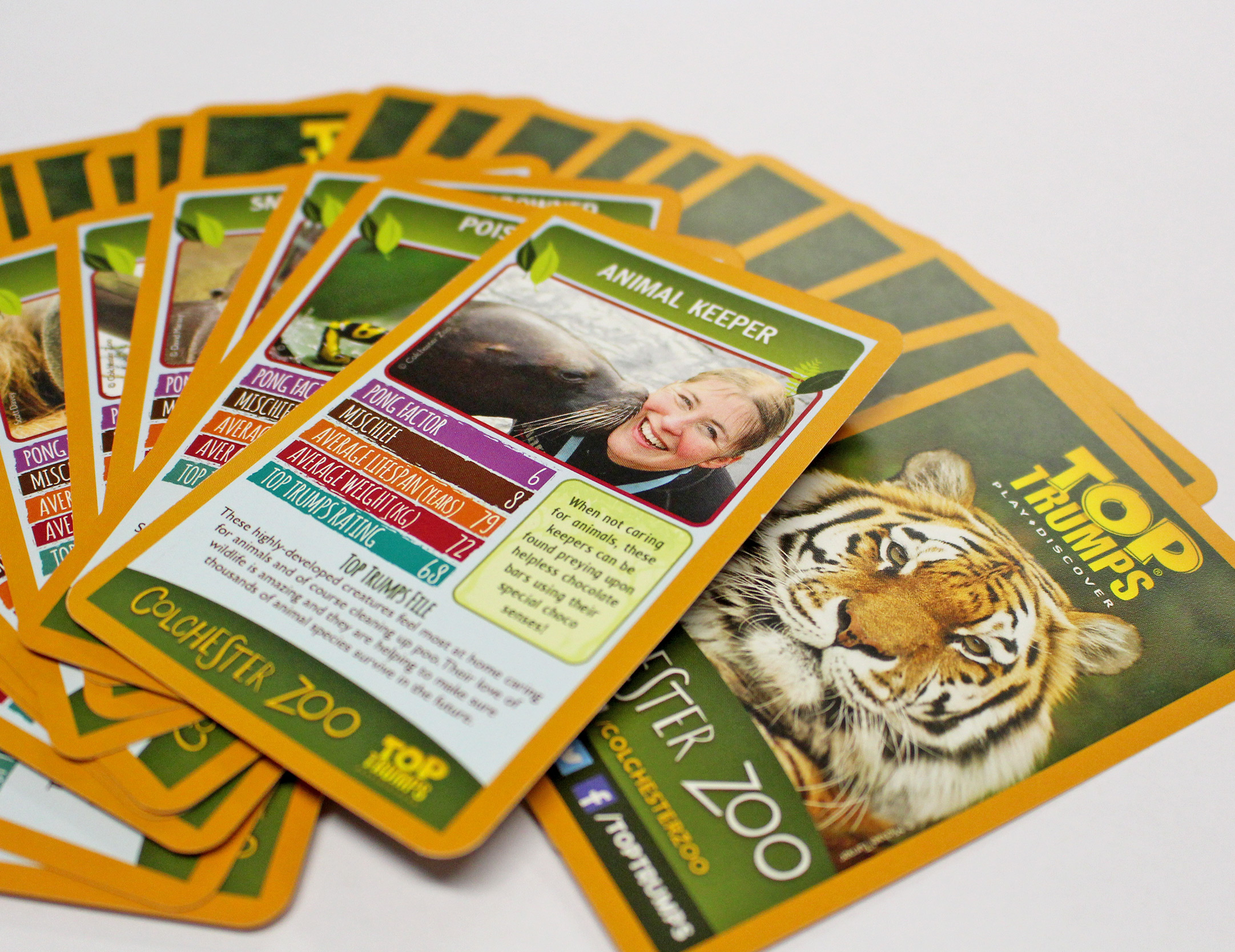 Colchester Zoos Top Trumps Colchester Zoo Shop