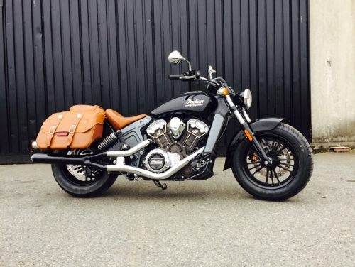 indian scout 2 into 1 slip on muffler