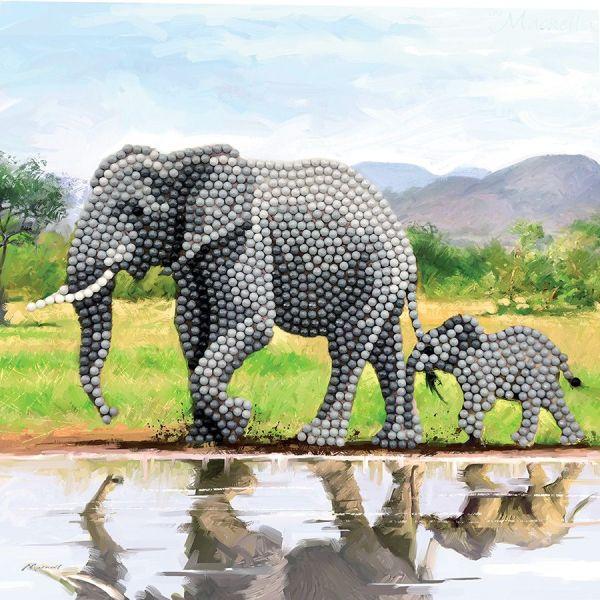 Perles à coller éléphant
