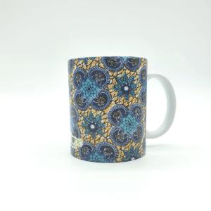 mug con fantasia wax ocra