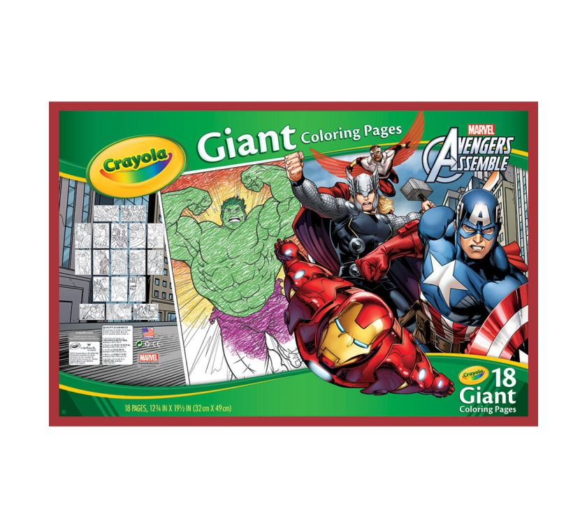 giant coloring pages avengers assemble  crayola
