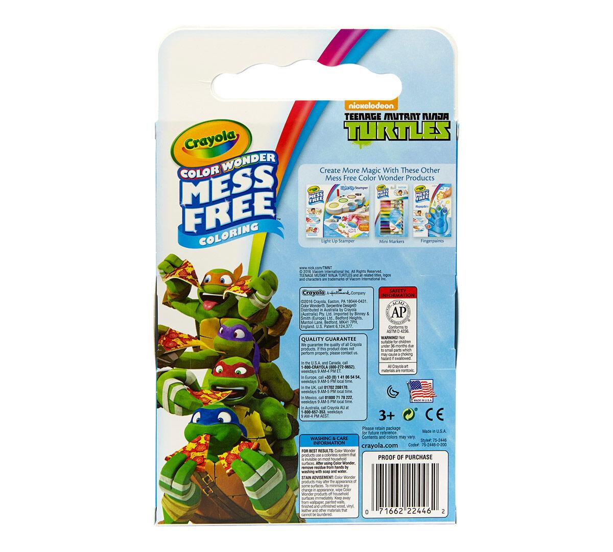 Color Wonder Teenage Mutant Ninja Turtle Crayola
