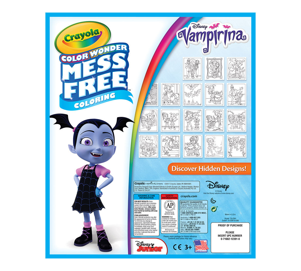 Crayola Mess Free Color Wonder Vampirina 18 Coloring