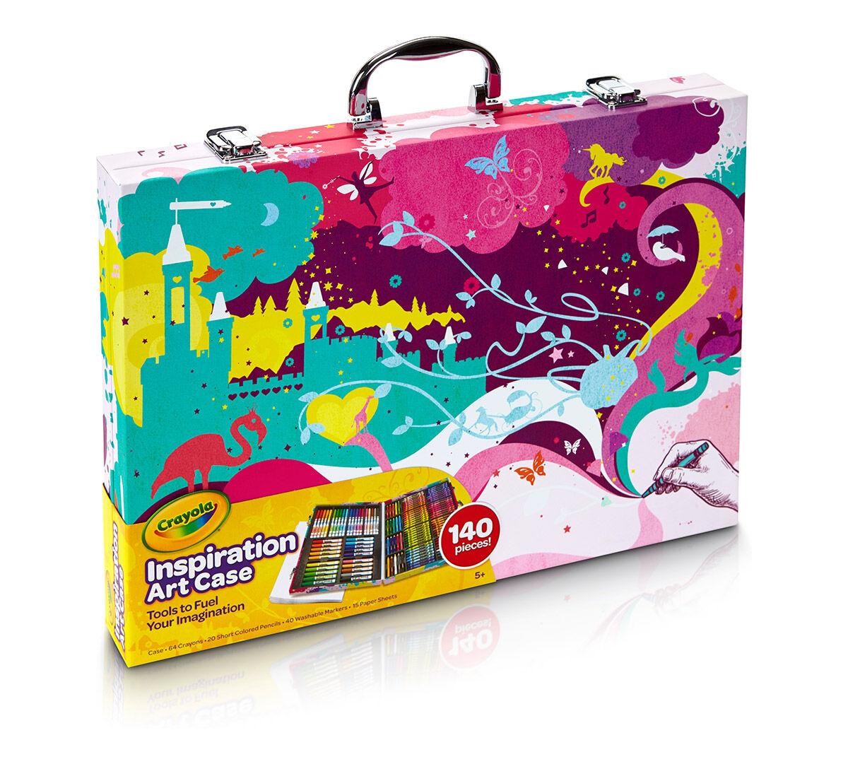 crayola art case set in pink