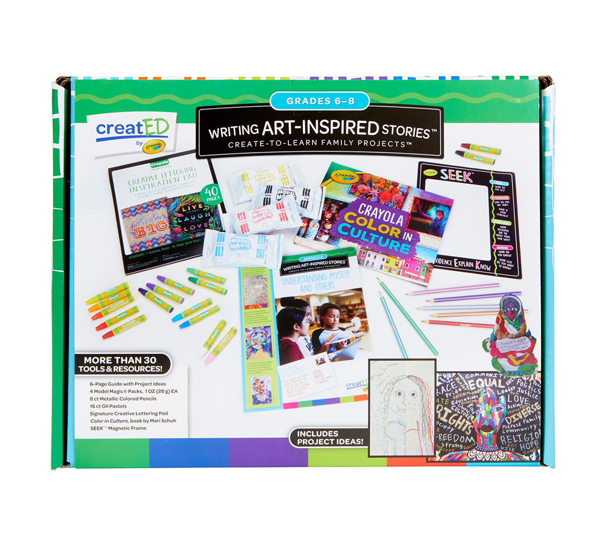 creatED� Family Engagement Kits, Writing Art-Inspired Stories: Grades 6-8: Understanding Self and Others, 30 Count