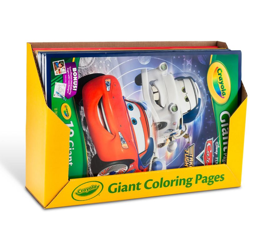giant coloring pages assorted bulk case  crayola