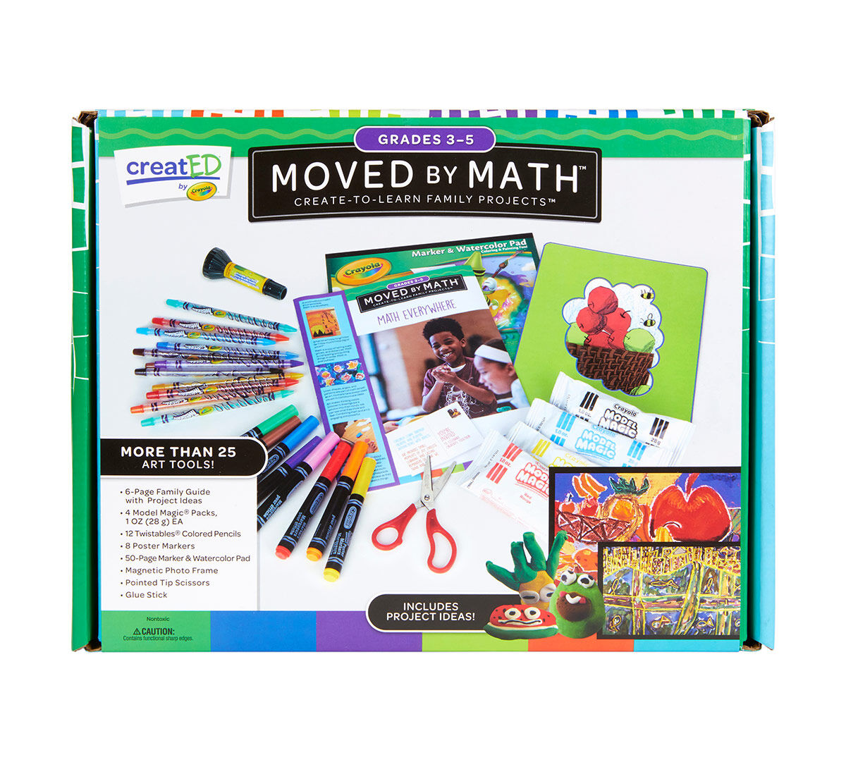 creatED Create-to-Learn Math Learning Games Kit, Grades 3-5