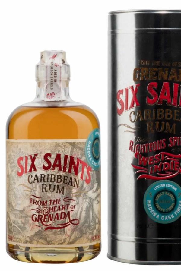 Six Saints Rum Madeira cask finish 41.7% In gift tin