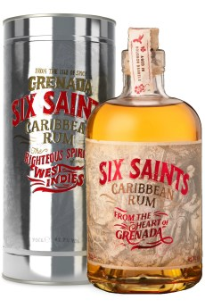 Six Saints Rum gift tin grenada caribbean