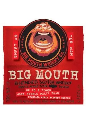 Big Mouth Whisky label