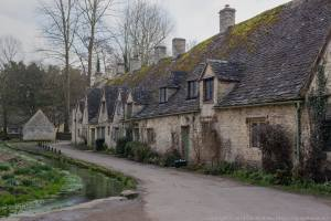 Arlington Row in Bibury, a row of old cottages