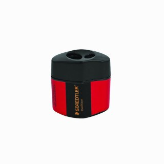 Staedtler Sharpener, Double Barrel, With Container