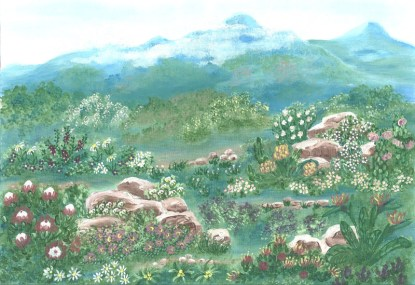 Kirstenbosch - A3 (Large) embroidery panel