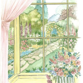 Yellow Window (WD 01) A3 (Large) embroidery panel