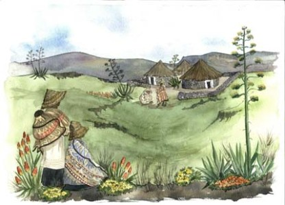 Basotho A4 (Medium) embroidery panel, ready to embroider