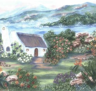 Clanwilliam A4 (Medium) embroidery panel, ready to embroider