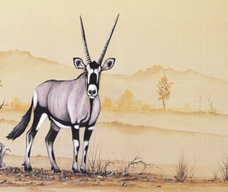 Gemsbok - A3 (Large) embroidery panel, ready to embroider