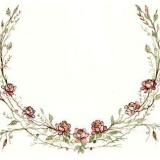 Horse Shoe embroidery panel, ready to embroider