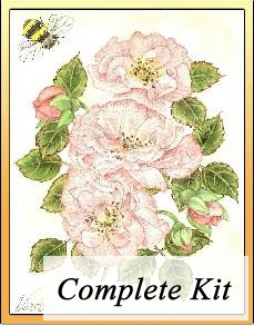 Old Fashioned Rose Embroidery Kit