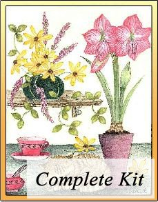 Kitten and Lily Embroidery Kit