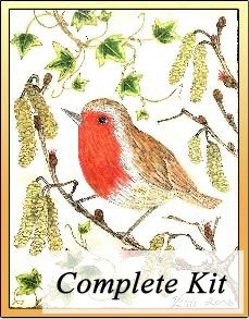 Red Robin Embroidery Kit