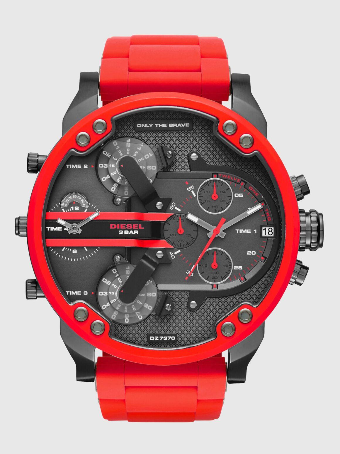 DZ7370 Man: Mr. Daddy 2.0 red metal watch, 55 mm | Diesel