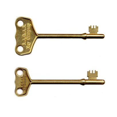 Two genuine RADAR keys in large and small sizes
