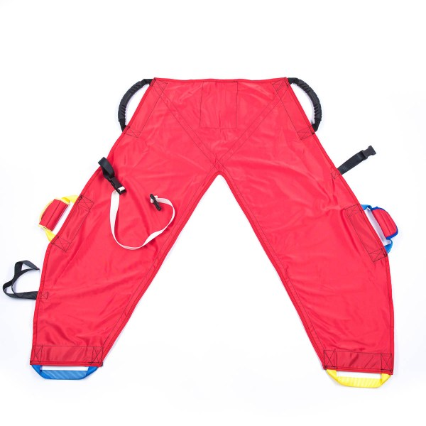 Front of red ProMove hoist sling for disabled children and young adults