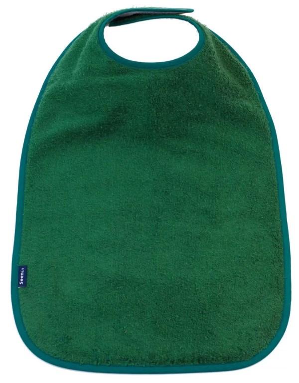 Seenin bib apron in green
