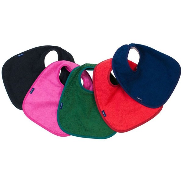 Seenin dibble bib for disabled children in black, pink, green, red and navy