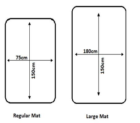 Dimensions of Seenin large and smaller roll-up portable changing mat