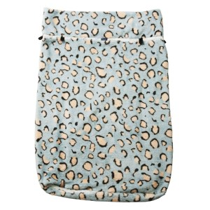 Seenin fleece wheelchair leg cover leopard print