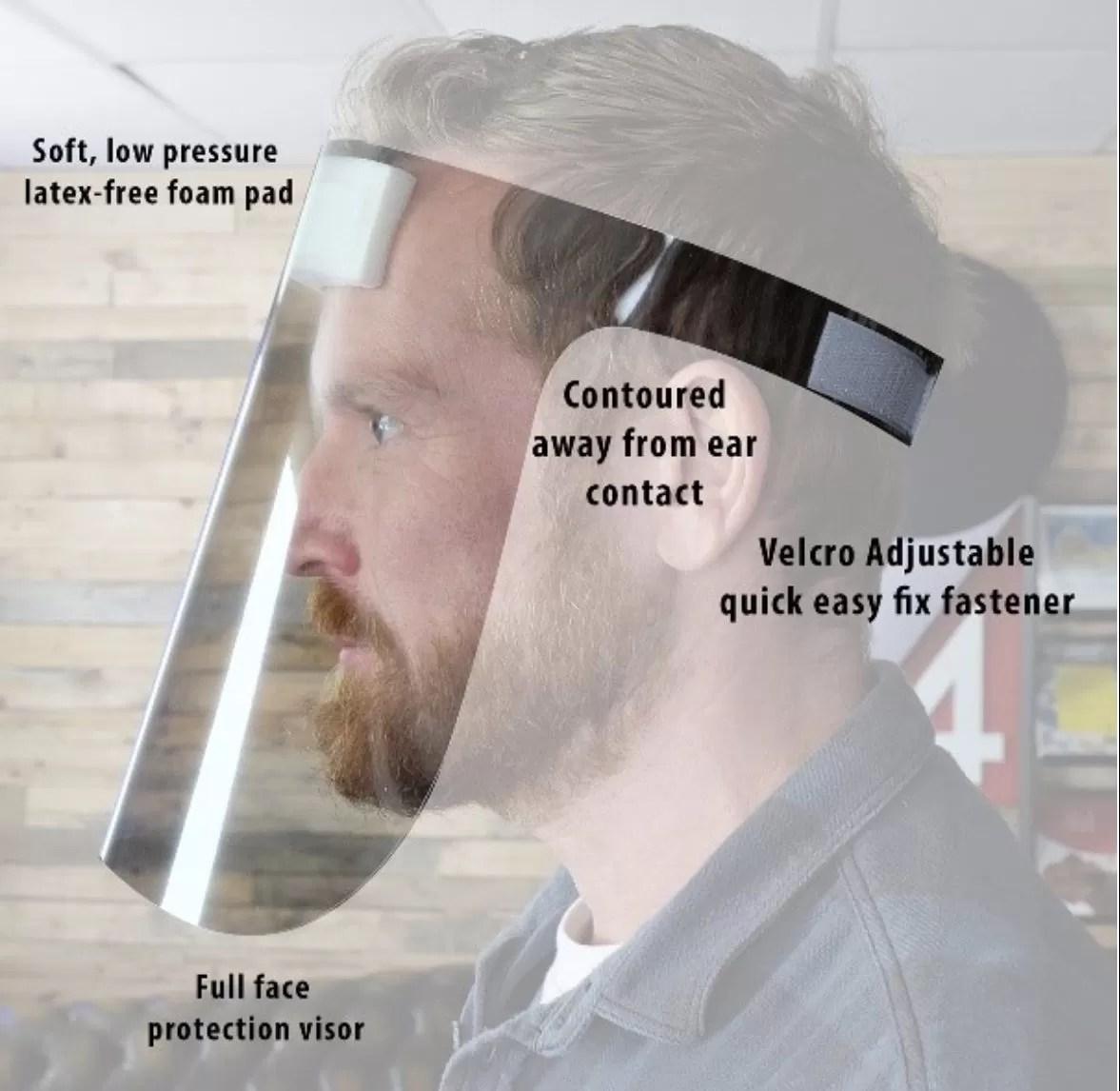 PPE Face Shield Visor Qty 10 UK MADE