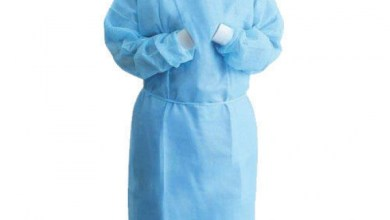 Photo of Disposable long-length isolation gown PPE