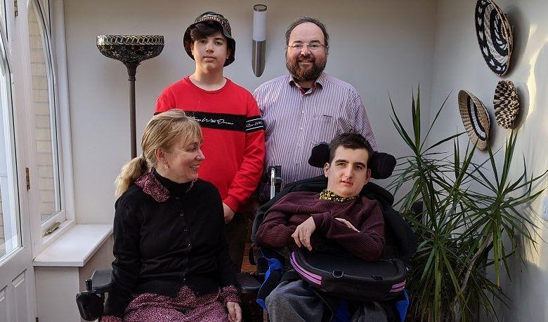 Duncan with his wife Clare and two sons