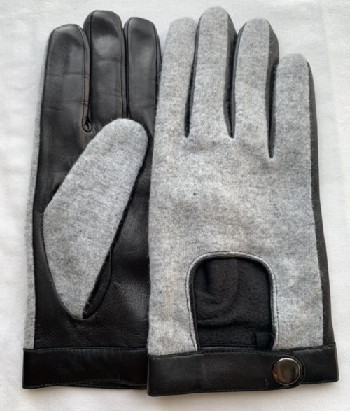 Hands of Warriors wheelchair gloves with black leather and great fabric