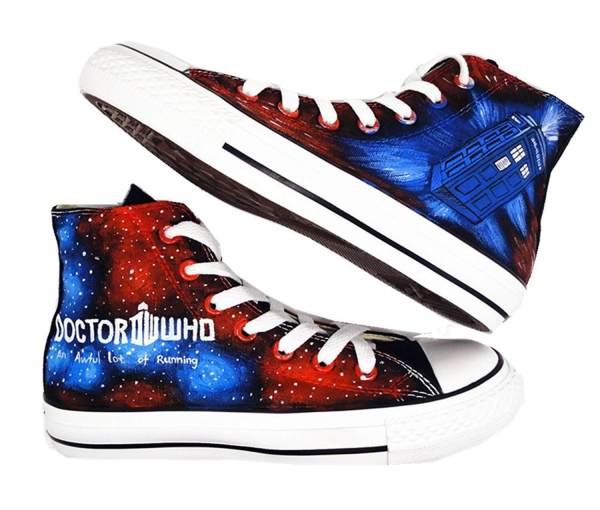 Doctor Who Hand Painted Shoes