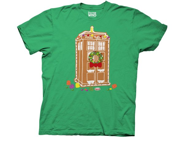 Gingerbread TARDIS themed T-Shirt