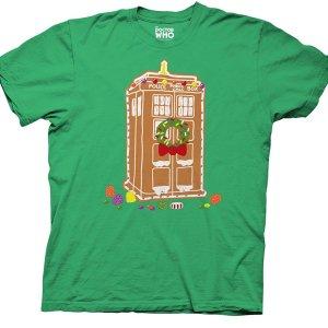 Gingerbread TARDIS themed T-Shirt