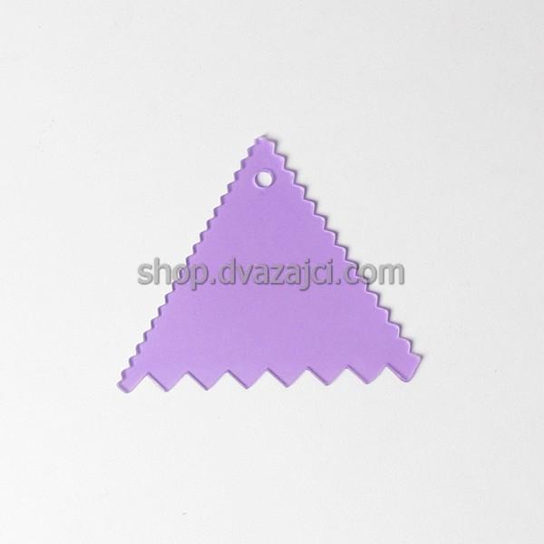 Шпатель кондитерский пластиковый треугольный