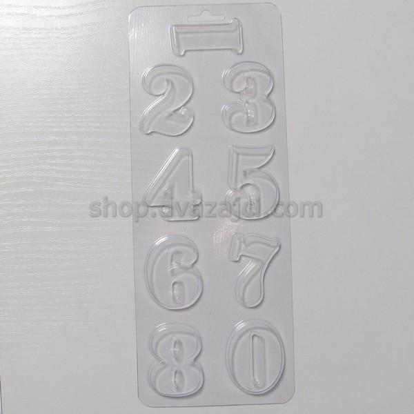 Форма пластиковая Цифры