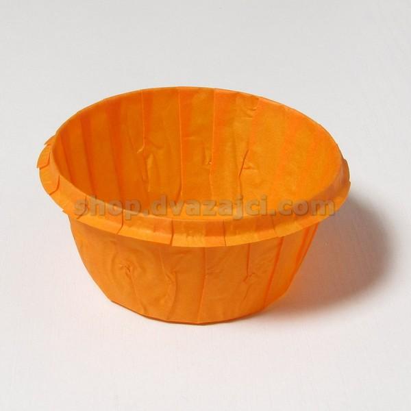 Бумажный стаканчик с усиленным бортом оранжевый 25 штук