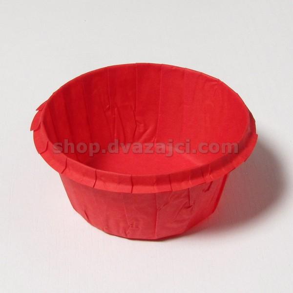 Бумажный стаканчик с усиленным бортом красный 25 штук