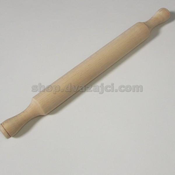 Скалка деревянная с ручками 40 см