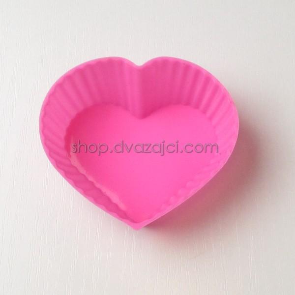 Форма силиконовая для кексов Сердечко