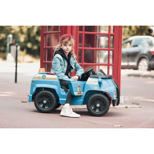 camion de police chase pat patrouille voiture enfant electrique avec telecommande parentale