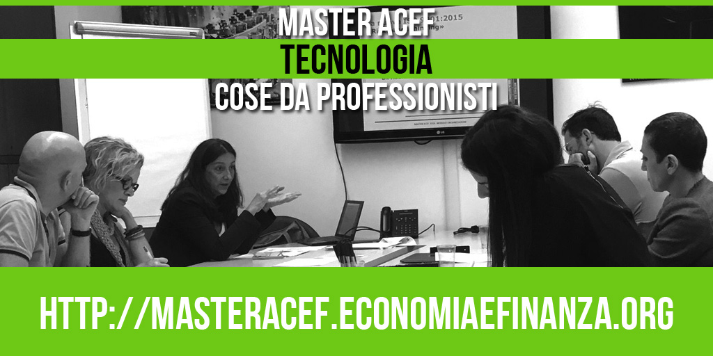 Il Modulo Tecnologia – Master ACEF